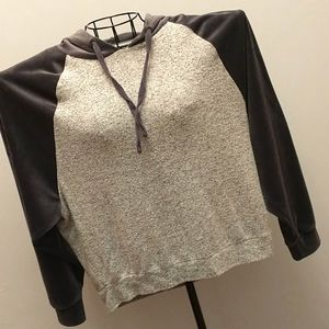 Pink Republic Knit and Velour Hoodie - M